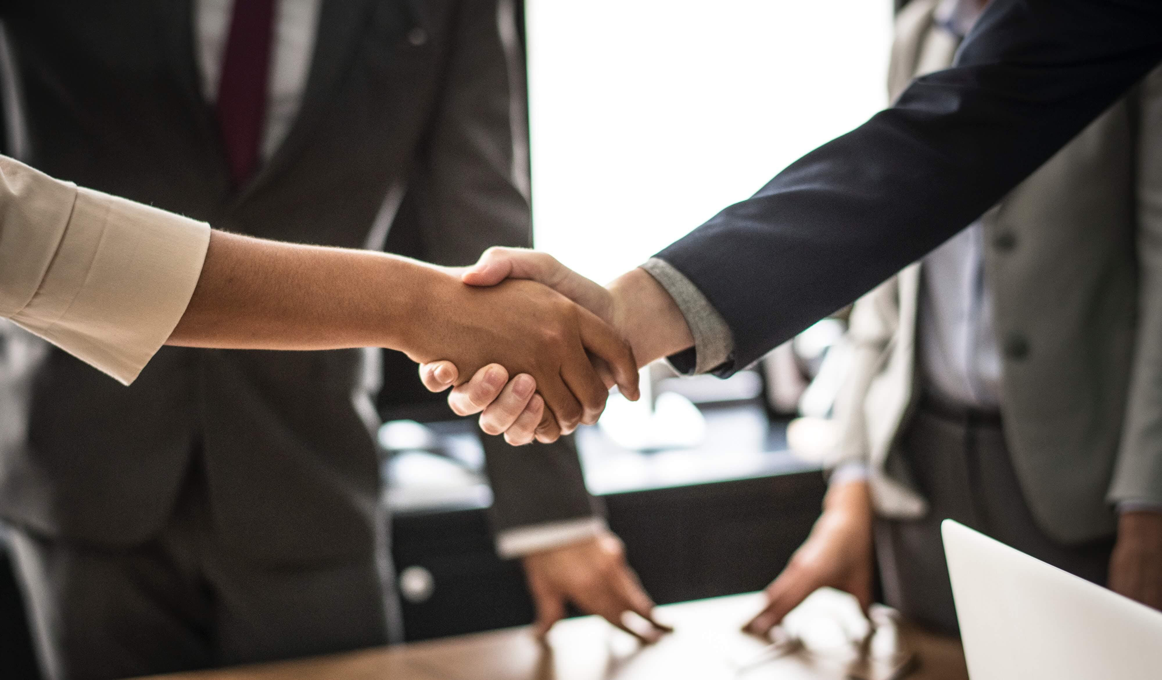interviewing handshake