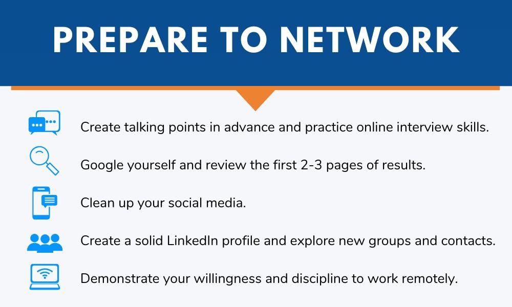 prepare to network